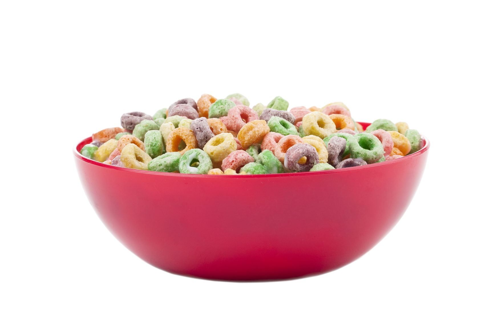 a bowl with colorful cereals